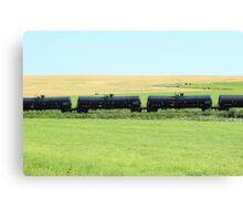 Rail Car on the Prairies Canvas Print