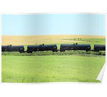Rail Car on the Prairies Poster