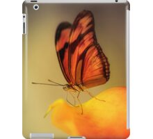 Orange butterfly on yellow and red flower iPad Case/Skin