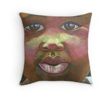 look Africa in the eyes Throw Pillow