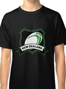 Rugby Ball New Zealand shield Classic T-Shirt