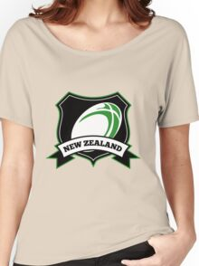 Rugby Ball New Zealand shield Women's Relaxed Fit T-Shirt