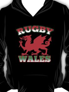 Welsh dragon rugby Wales Flag T-Shirt