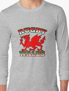 Welsh dragon rugby Wales Flag Long Sleeve T-Shirt