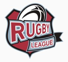 rugby league ball shield by patrimonio