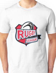 rugby league ball shield Unisex T-Shirt