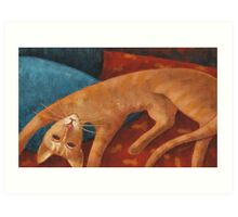 Modigliani cat Art Print