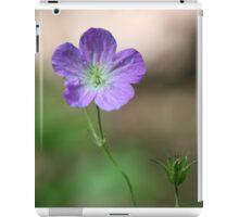 Purple Wildflower 2 iPad Case/Skin
