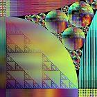 Geometric Squeeze Down by Lynda K Cole-Smith