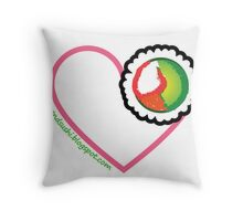 love and sushi Throw Pillow