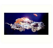 Car in Space. Art Print
