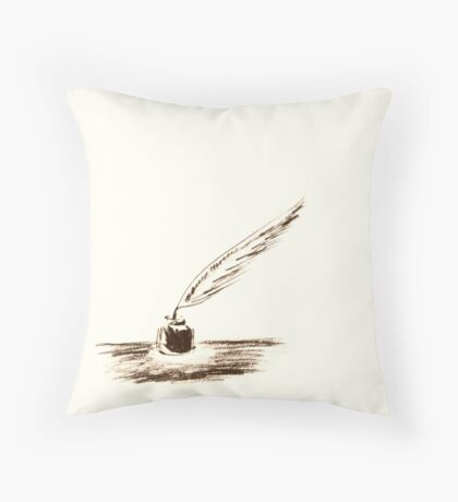 Feather & Ink Throw Pillow