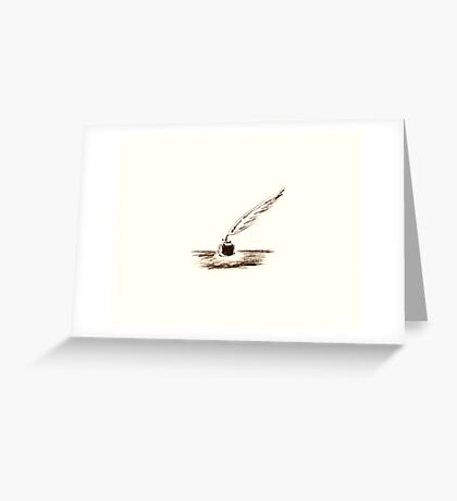 Feather & Ink Greeting Card