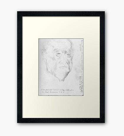 ralph vaughn williams -(050811)- pencil/sketchbook/copy of sculpture Framed Print