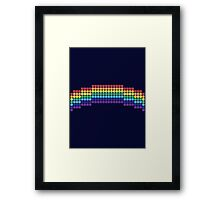 Retro Rainbow Framed Print