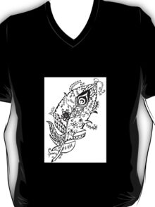 Mystical Peacock Feather  T-Shirt