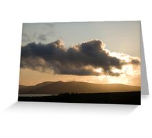 Dunmanus Bay Sunrise Sunset in Ireland 57 Greeting Card