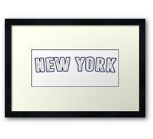 MLB City - New York Framed Print