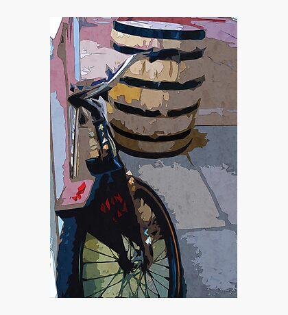 Drunken Bike Photographic Print
