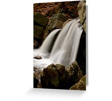 small town water fall  Greeting Card