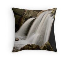 small town water fall  Throw Pillow