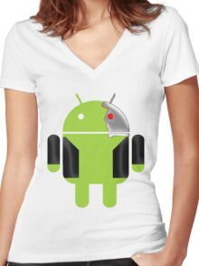 D-800 Women's Fitted V-Neck T-Shirt