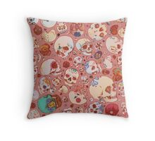 Skull Doodles Throw Pillow