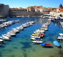 Old Town Marina - Dubrovnik by Honor Kyne