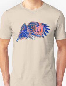 Owl in flight - Orange/Blue  T-Shirt