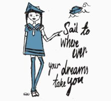 Sail Where ever your Dreams Take You One Piece - Short Sleeve