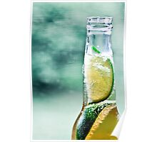 Corona with two limes Poster