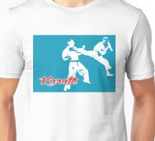 Karate Jumping Back Kick Blue  Unisex T-Shirt