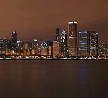 Chicago Skyline Panorama by Eddie Yerkish