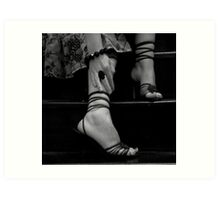 Stepped shoes Art Print
