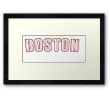 MLB City - Boston  Framed Print