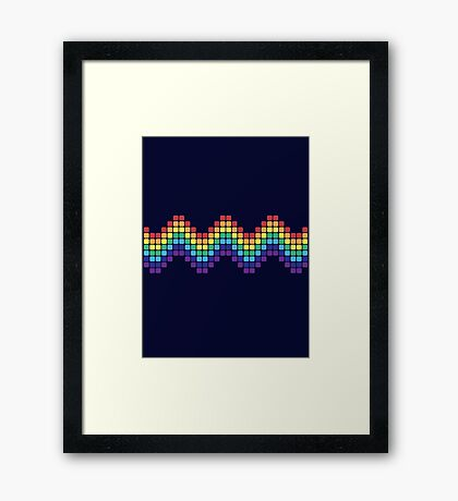 Retro Rainbow - Wave Framed Print