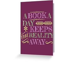 A book a day... Greeting Card