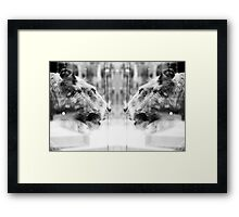 Big Cats | Looking Glass Framed Print