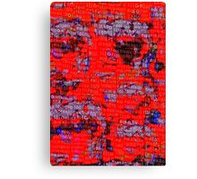 Binary Numbers Collage Canvas Print