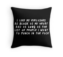 Eyelashes black and long Throw Pillow