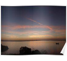 Lagoon Sunset Poster