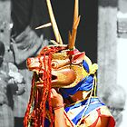 Masked Monk #4, Tashiling Festival, Eastern Himalaya, Central Bhutan  by Carole-Anne