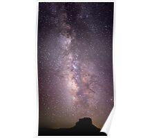 Milky Way Over Fajada Butte Poster