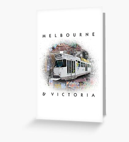 Melbourne Street View Greeting Card