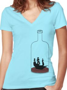 TOO DRUNK TOO SAIL! Women's Fitted V-Neck T-Shirt