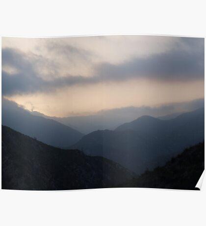Dusk in San Gabriel Mountains Poster