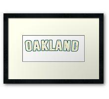 MLB City - Oakland Framed Print