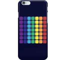 Vertical Rainbow Square - Dark Background iPhone Case/Skin