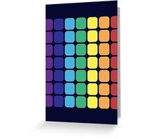 Vertical Rainbow Square - Dark Background Greeting Card