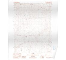 USGS Topo Map Nevada Jordan Meadow NW 319148 1991 24000 Poster